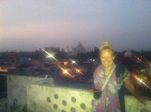 Agra by night