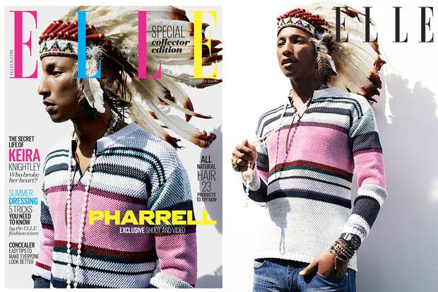 Pharell in Elle UK