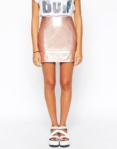 rose gold skirt via asos