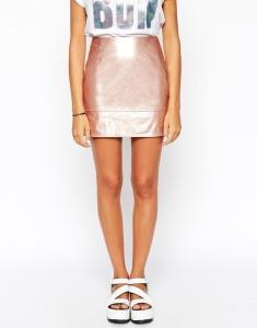 rose gold skirt via asos