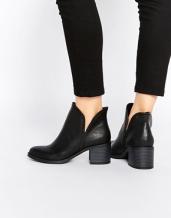 asos ankle black