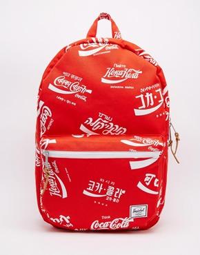 asos herschel coca cola bag