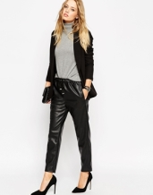 asos leather look joggers