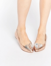 asos longtime pointed ballet shoes