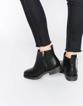 asos new look zip side flat boots