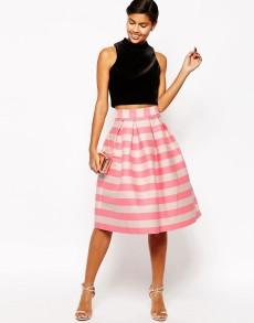 Stripey pink asos skirt