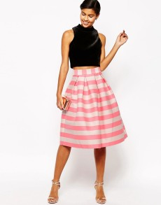 Stripey pink asos skirt